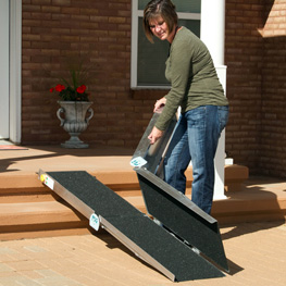 PVI multifold ramp mobility aids