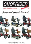 Shoprider scooter owners manual